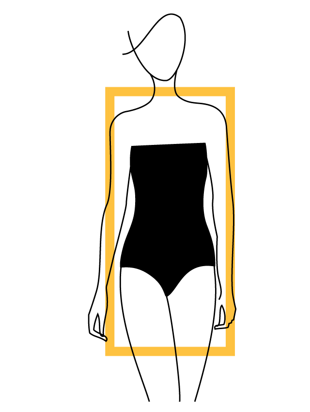 rectangular-body-type 10 Secrets of Dressing According to Body Type
