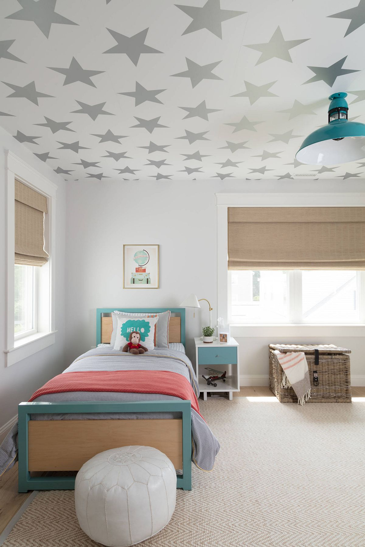 Wallpaper-on-ceiling 10 Cute Ways to Use Removable Wallpaper for Your Kid's Bedroom