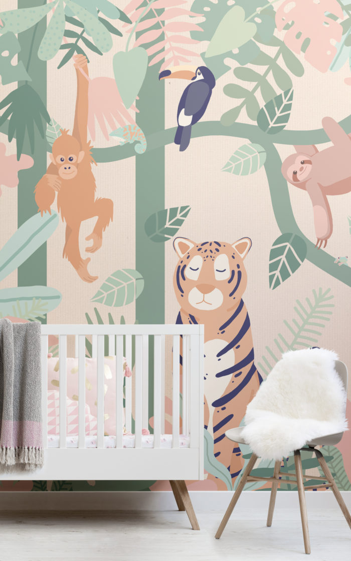 animals-Wallpaper-prints 10 Cute Ways to Use Removable Wallpaper for Your Kid's Bedroom