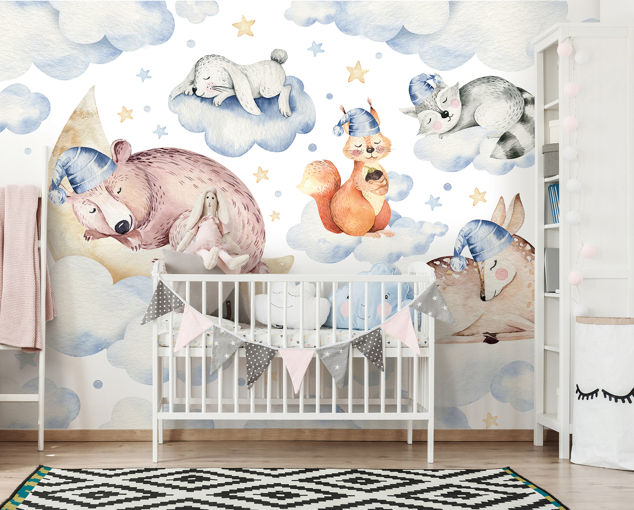 animals-Wallpapers-prints 10 Cute Ways to Use Removable Wallpaper for Your Kid's Bedroom
