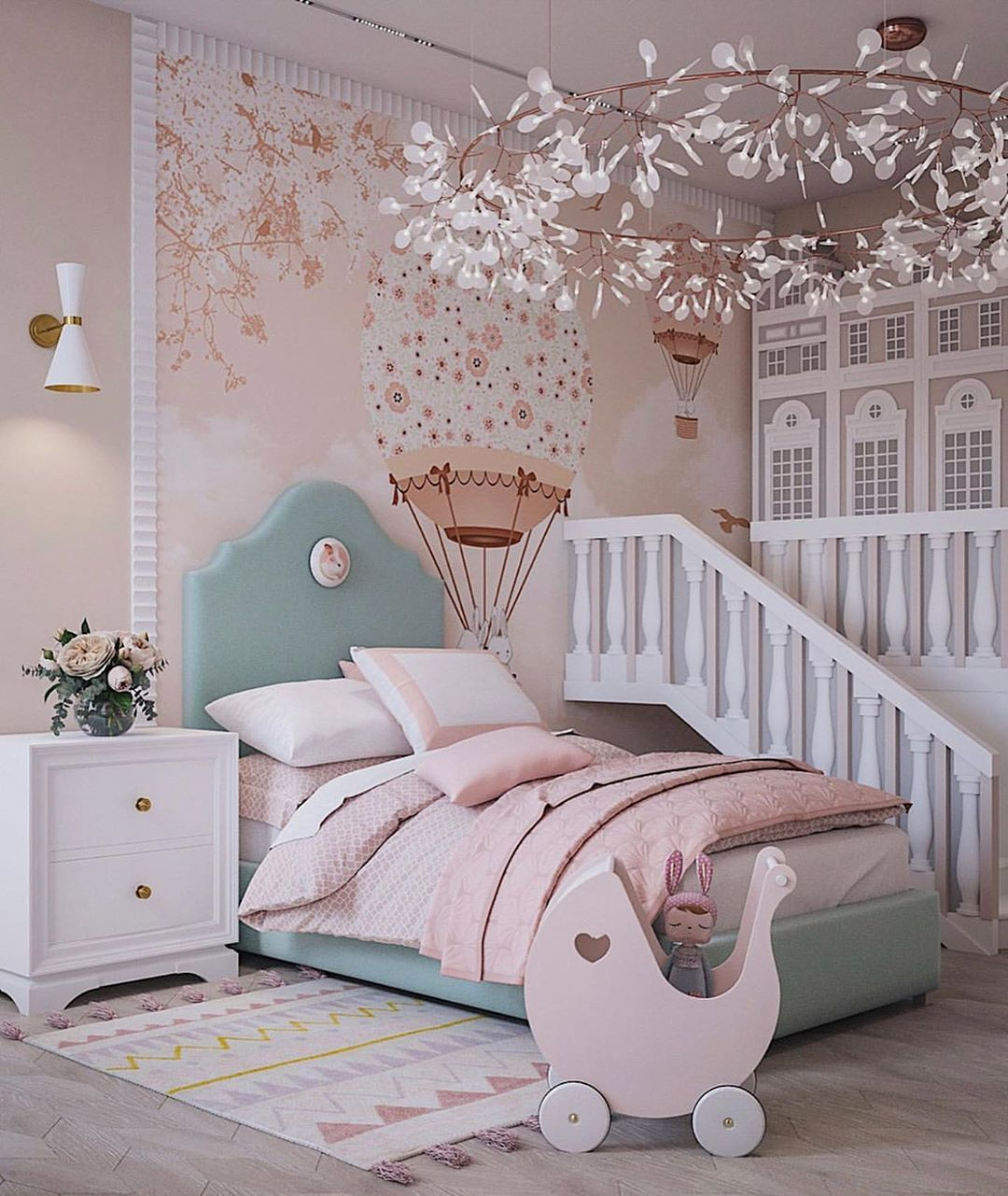 beautiful-statement-wall 10 Cute Ways to Use Removable Wallpaper for Your Kid's Bedroom