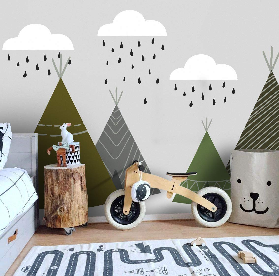modern-wallpaper 10 Cute Ways to Use Removable Wallpaper for Your Kid's Bedroom