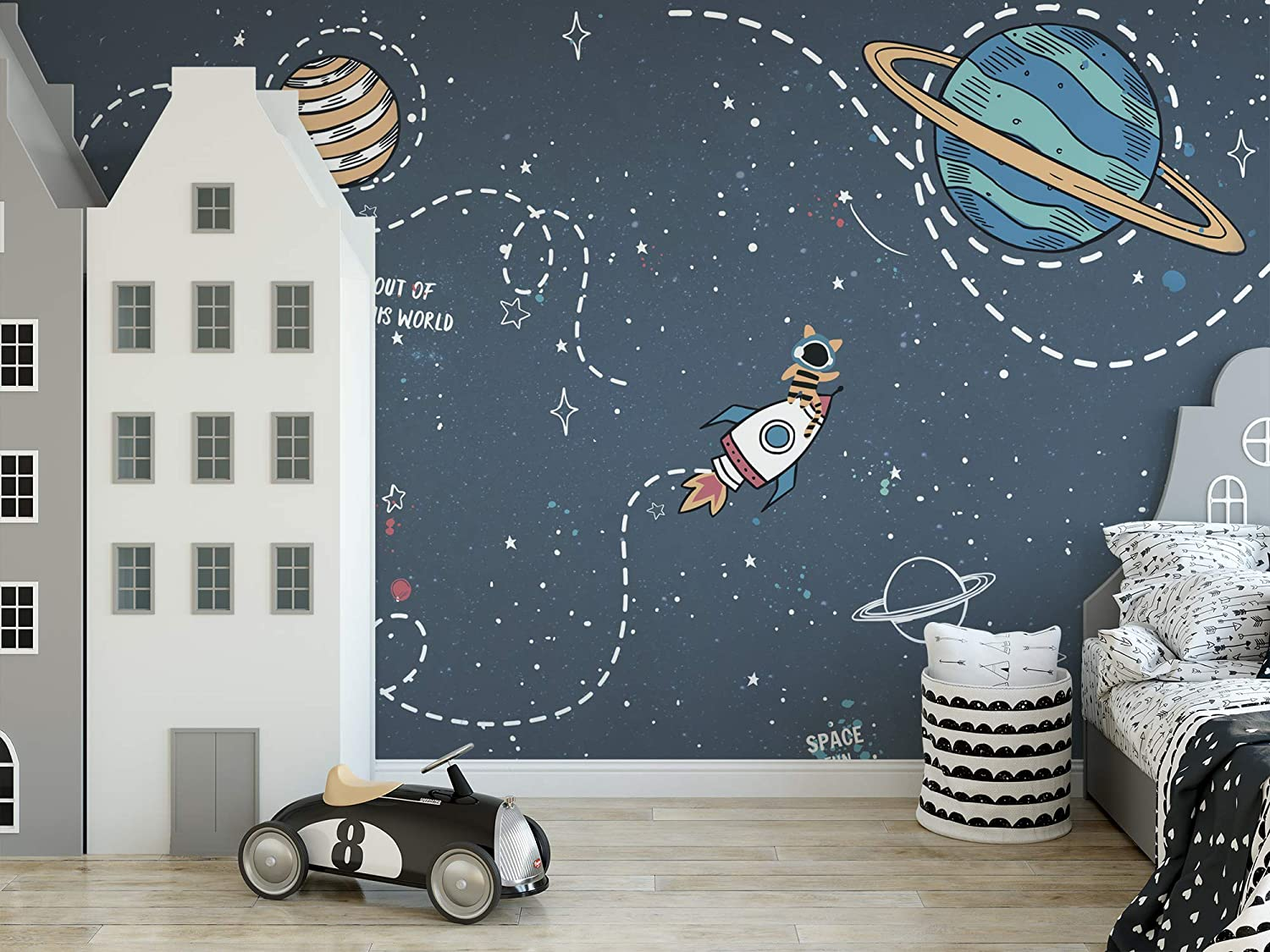stickers-wall-kids-room 10 Cute Ways to Use Removable Wallpaper for Your Kid's Bedroom