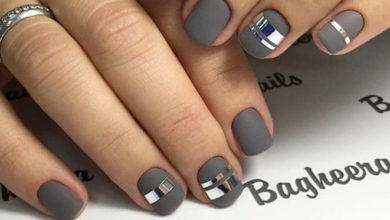 grey nail art