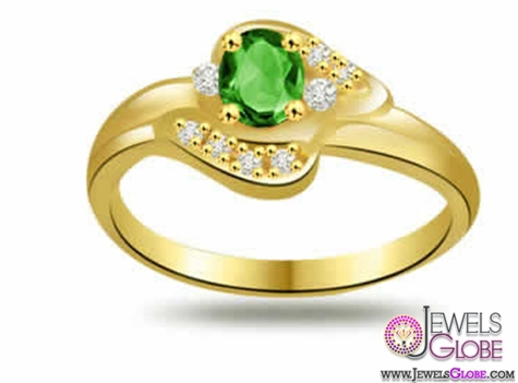 0.10ct-Diamond-and-Emerald-Ring A Quick Way to Get Cheap Emerald Rings For Sale