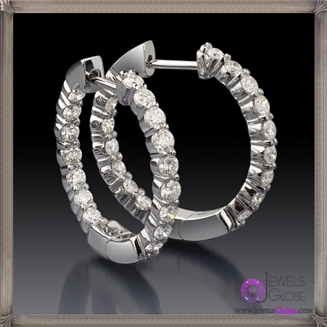 1-Carat-Total-Weight-Diamond-Hoop-Earrings These Are The BEST 32 Diamond Hoop Earrings You'll See (Plus Shopping Tips)