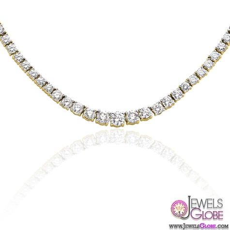10-ct.-Graduated-Diamond-Tennis-Necklace Best 10 Cheapest Diamond Necklaces For Sale