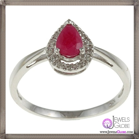 10k-White-Gold-Genuine-Ruby-and-Diamond-Ring 32+ Most Elegant Genuine Ruby Rings For Women
