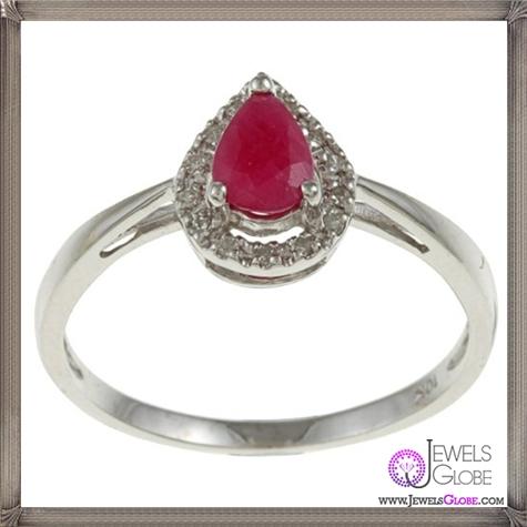 10k-White-Gold-Genuine-Ruby-and-Diamond-Ring 32+ Most Elegant Genuine Ruby Rings For Women