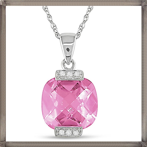 10k-White-Gold-Pink-Topaz-and-Diamond-Accent-Necklace How to Choose and Buy Most STYLISH Pink Diamond Necklace Designs