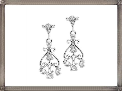 10kt-White-Gold-Diamond-Earrings.-Enlarge Latest Signature Diamond Earrings For Women