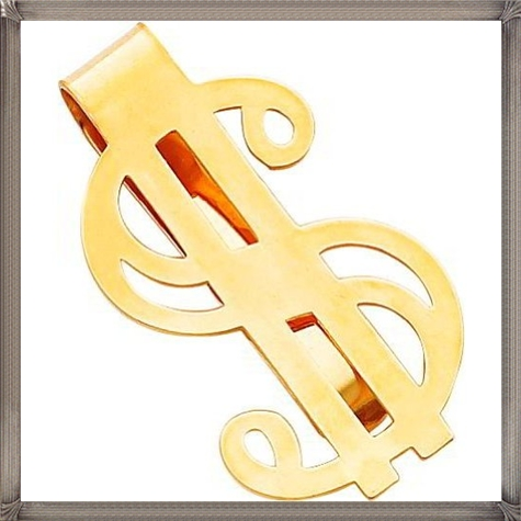 14K-Gold-Dollar-Sign-Money-Clip The 25 Most Popular Gold Money Clip Designs