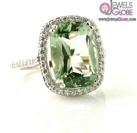 14K-Light-Green-Amethyst-Ring-Diamond The Most Stylish Gemstone Engagement Rings