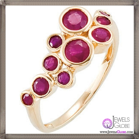 14K-Yellow-Genuine-Madagascar-Ruby-Ring 32+ Most Elegant Genuine Ruby Rings For Women