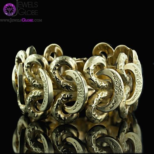 14k-Gold-Link-Bracelet 18 Hot Gold Link Bracelets Designs
