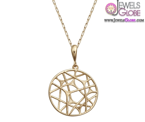 14k-yellow-gold-fashion-pendant-round-shape-with-design-in-center The 29 Most Popular Gold Pendant Designs For Women