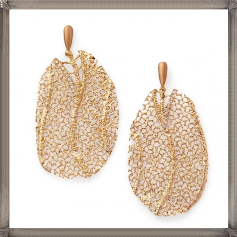 18-Karat-rose-gold-lace-coral-earrings-with-diamonds-by-Mary-Esses Latest Gold Earrings Designs 2019