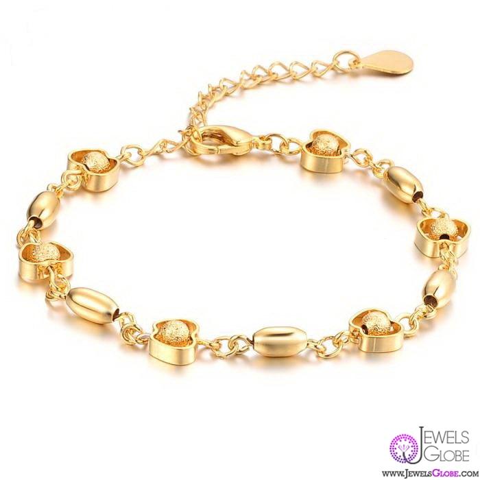 18K-YELLOW-GOLD-Link-Chain-BRACELET-For-Women 18 Hot Gold Link Bracelets Designs