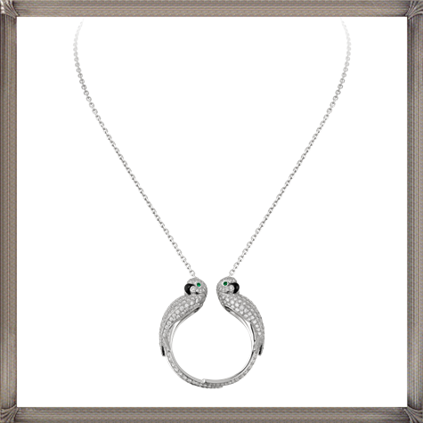18K-white-gold-necklace-lovebirds-motif-diamond-paved-pendant-set The 13 Most Stylish White Gold Necklaces For Women and Choice TIPS