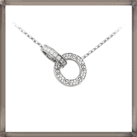 18K-white-gold-necklace-paved-with-48-diamonds The 13 Most Stylish White Gold Necklaces For Women and Choice TIPS