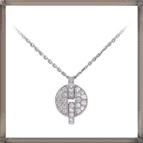 18K-white-gold-necklace-white-gold-pendant-set-with-diamonds The 13 Most Stylish White Gold Necklaces For Women and Choice TIPS
