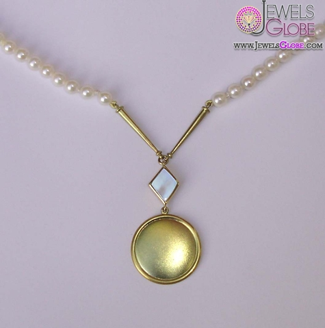 18ct-gold-pearl-necklace Top 20 Pearl Gold Necklace Designs