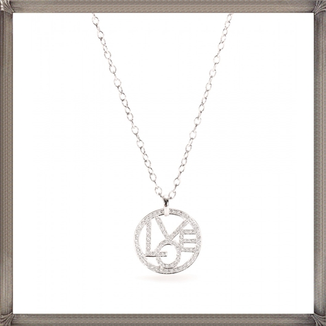 18kt-White-gold-Love-pendant-necklace-with-77-white-diamonds-on-white-gold The 13 Most Stylish White Gold Necklaces For Women and Choice TIPS