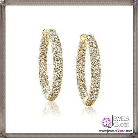 18kt-yellow-gold-diamond-hoop-earrings-The-round-brilliant-diamonds These Are The BEST 32 Diamond Hoop Earrings You'll See (Plus Shopping Tips)