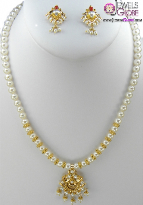 22-Karat-Gold-Pearl-Necklace Top 20 Pearl Gold Necklace Designs