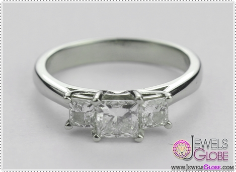 3-stone-18-carat-white-gold-princess-cut-engagement-ring 3 Stone White Gold Engagement Rings for Women
