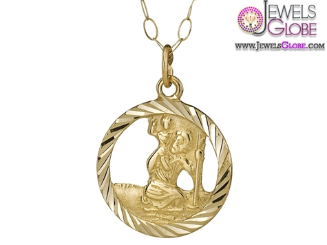 9-Carat-Yellow-Gold-St-Christopher-Pendant-design The 29 Most Popular Gold Pendant Designs For Women