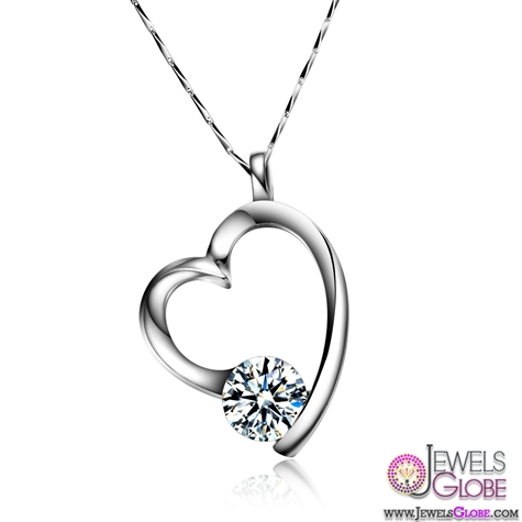 925-Silver-Heart-1.25-carat-diamond-necklace-Switzerland-Ms.-Arrows Best 10 Cheapest Diamond Necklaces For Sale
