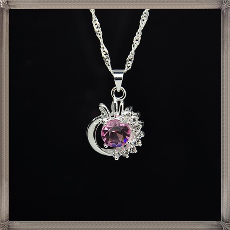 925-silver-pendant-necklace-Pink-Diamond-pendant How to Choose and Buy Most STYLISH Pink Diamond Necklace Designs