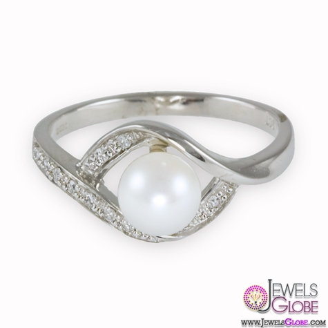 9ct-White-Gold-Diamonds-Pearl-Ring Top Pearl Rings For Sale