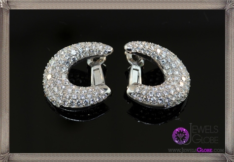 A-pair-of-French-18-karat-white-gold-hoop-earrings-with-pave-set-diamonds These Are The BEST 32 Diamond Hoop Earrings You'll See (Plus Shopping Tips)
