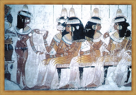 A-tomb-painting-of-a-servant-girl-and-four-elegantly-dressed-women-wear-gold-earrings Best Ways to Choose Most Stylish Earrings