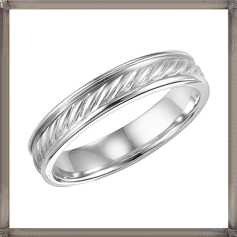 A-twisted-rope-design-gives-this-mens-wedding-band-rugged-detailing 5 CRITICAL Tips You Should Keep in Mind When Buying Men's Silver Wedding Bands