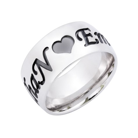 ASHYL-Sterling-Silver-Name-Ring-With-Heart-475x475 How to Choose Wedding Rings for Bride and Groom with Most Popular Designs