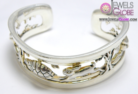 AUTHENTIC-KIESELSTEIN-CORD-SILVER-FABLE-CUFF-BRACELET-FOR-WOMEN 35 Hot Cuff Bracelets For Women