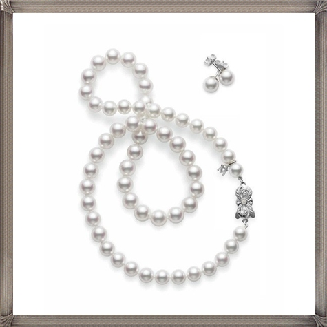 Akoya-Pearl-Necklace-and-Earring-Set The 15 GREATEST Mikimoto Pearl Necklaces