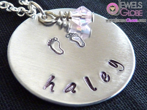 Aluminum-or-Copper-Name-Necklace-for-Babies 33 Amazing Designs Of Baby Necklaces