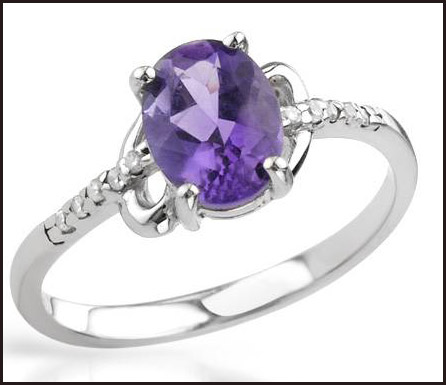 Amethyst-and-Cubic-zirconia-Beautifully-Crafted-in-925-Sterling-silver-ring Hottest Sterling Silver Rings For Women