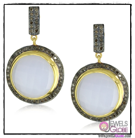 Amrapali-14k-Gold-and-Sterling-Silver-Aqua-Quartz-and-Diamond-Earrings Top 14 Most Amazing And Stylish Amrapali Jewelry Collection Of All Time