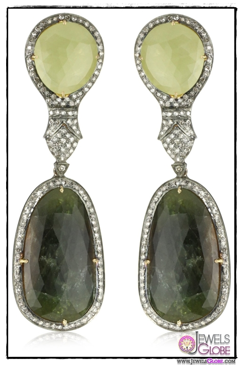 Amrapali-14k-Gold-and-Sterling-Silver-Sapphire-and-Diamond-Earrings Top 14 Most Amazing And Stylish Amrapali Jewelry Collection Of All Time