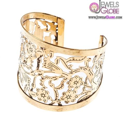 Antique-Gold-Mint-Filigree-Women-Cuff-Bracelet 35 Hot Cuff Bracelets For Women