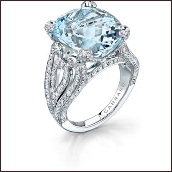 Aquamarine-Cocktail-Ring-with-Diamond Top Ranked Aquamarine Cocktail Rings