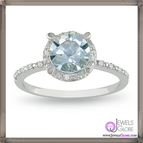 Aquamarine-and-Diamond-Accent-Ring 10 Hidden facts about Gemstones That You Must Know