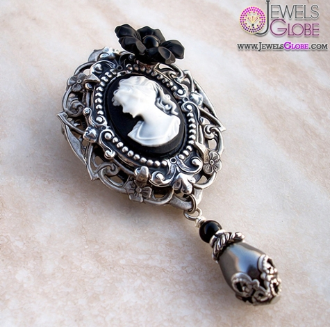 Aranwen-Black-Cameo-Brooch 20 Women Cameo Brooches You'll Only See Here!