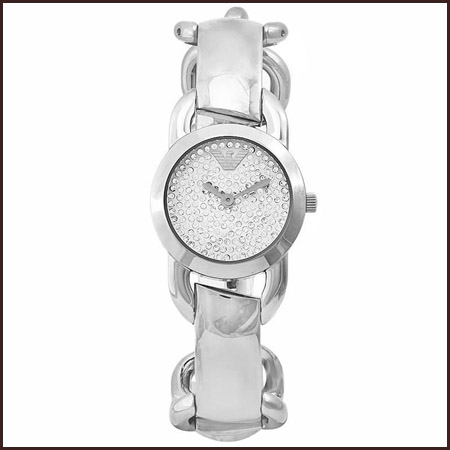 Armani-ladies-Quartz-Crystal-Dial-Stainless-Steel-Watch Best 7 Armani Ladies Watches Designs