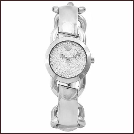 Armani-ladies-Quartz-Crystal-Dial-Stainless-Steel-Watch Best 7 Armani Ladies Watches Designs